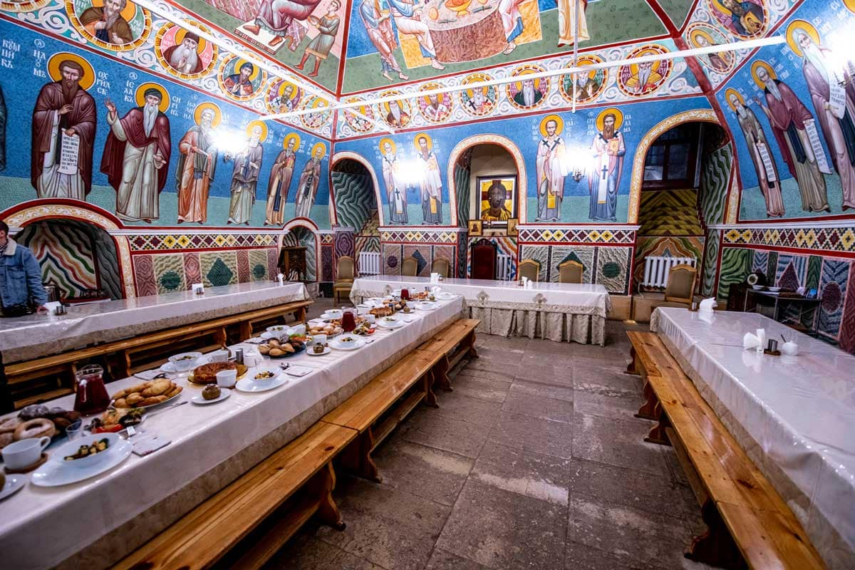 Monastery Russian dinner Moscow putintours