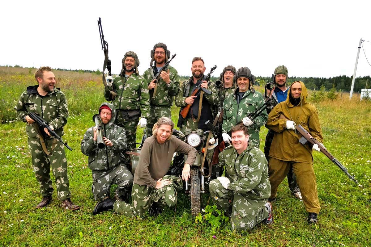 Shooting guns and bazooka Moscow Putintours