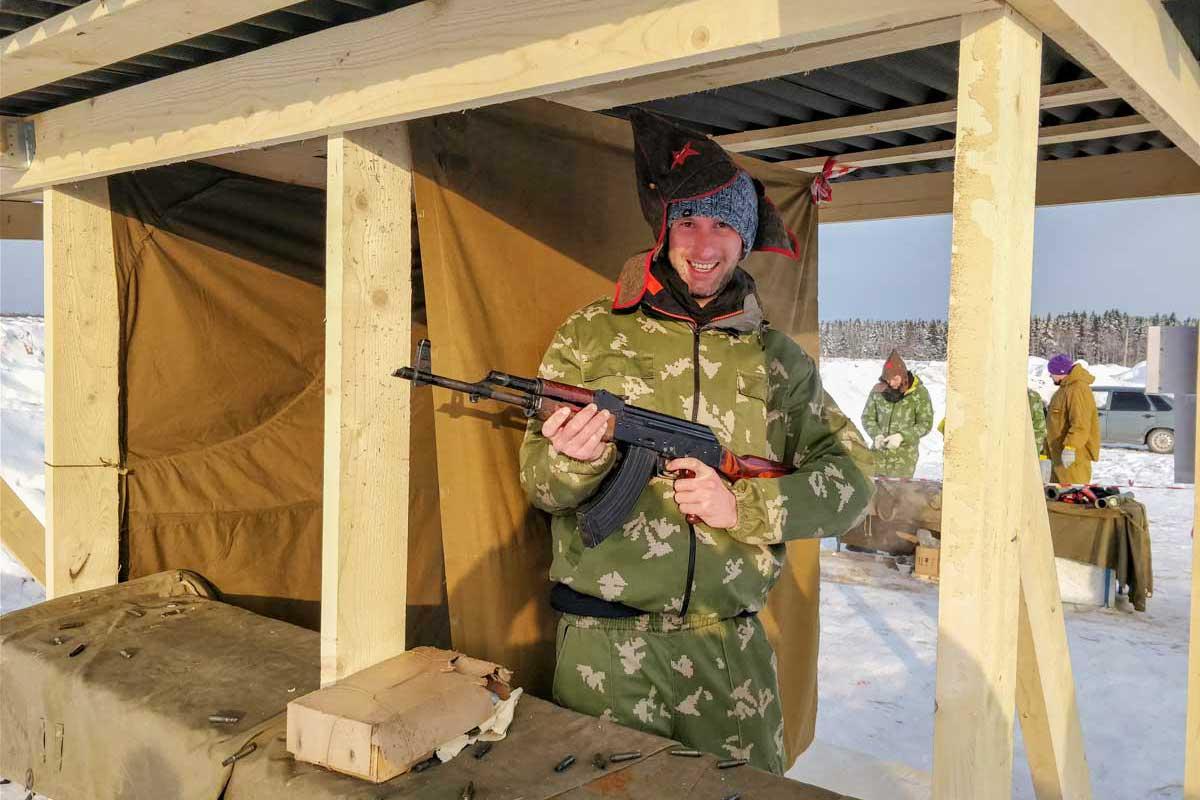Shooting AK-47 Moscow Putintours