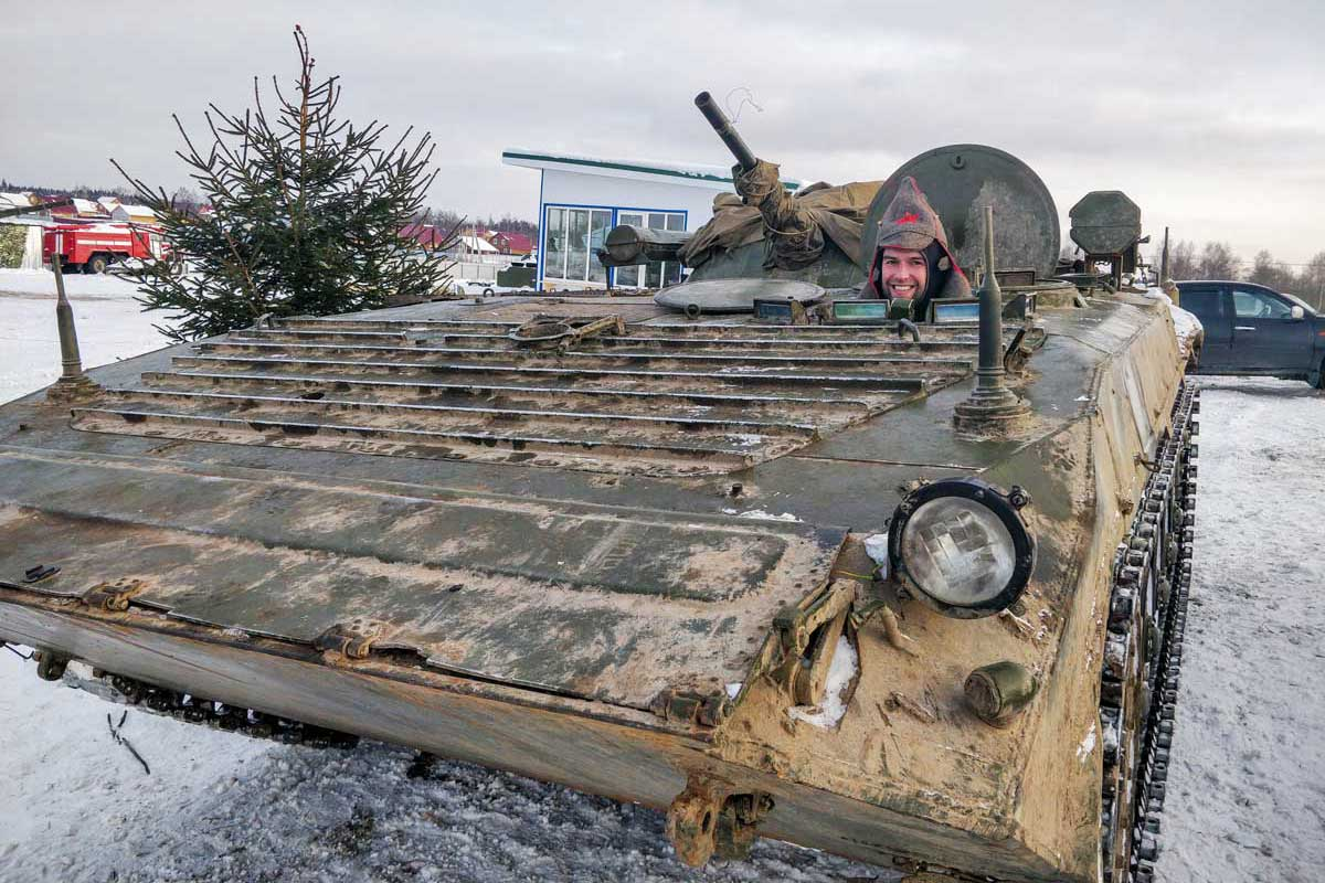 Tank ride Moscow Putintours