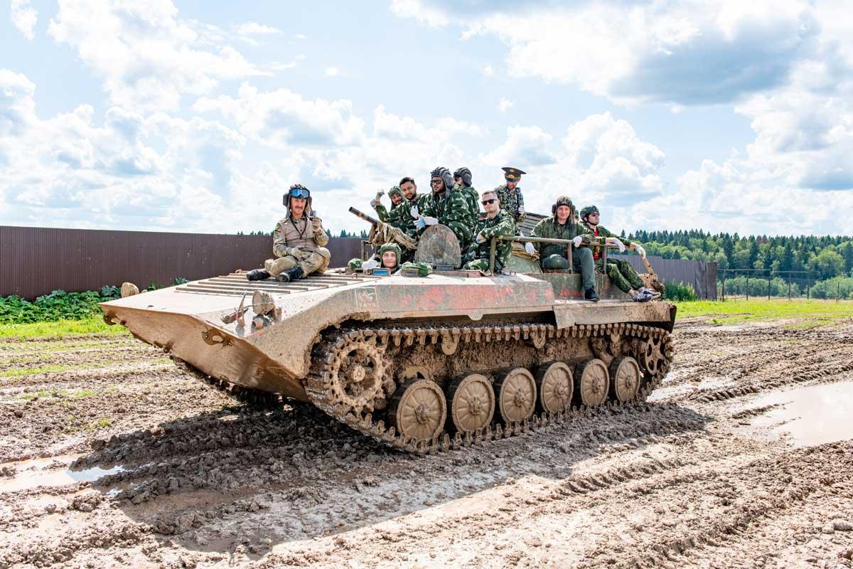 Tank drive Moscow Putintours