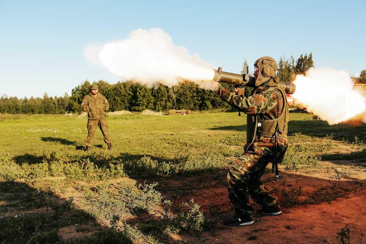 Tank ride and bazooka shooting Putintours Saint Petersburg