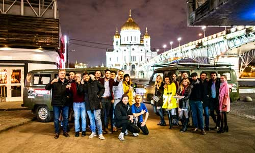 Put-in tours seminars - team building - corporate events - pubcrawl Moscow